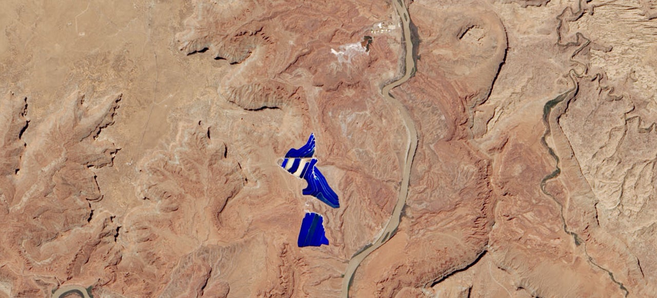 Why There's An Electric Blue Lake In The Middle Of This Desert