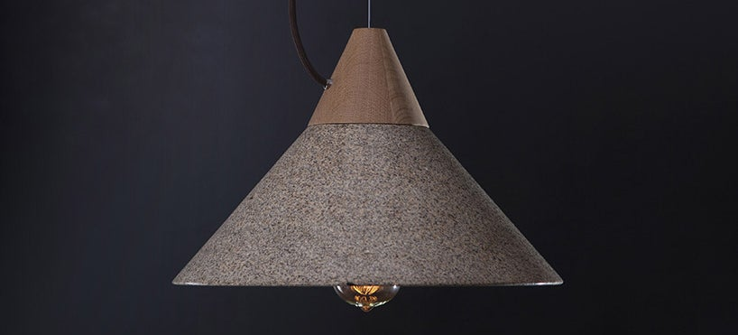 A Beautiful Lampshade Carved from Solid Granite