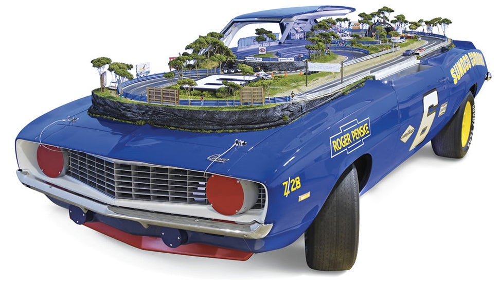 A 1969 Camaro Z/28 Reborn as an Incredibly Detailed Slot Car Track