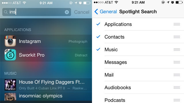 Customise Spotlight in iOS for Quicker Searches