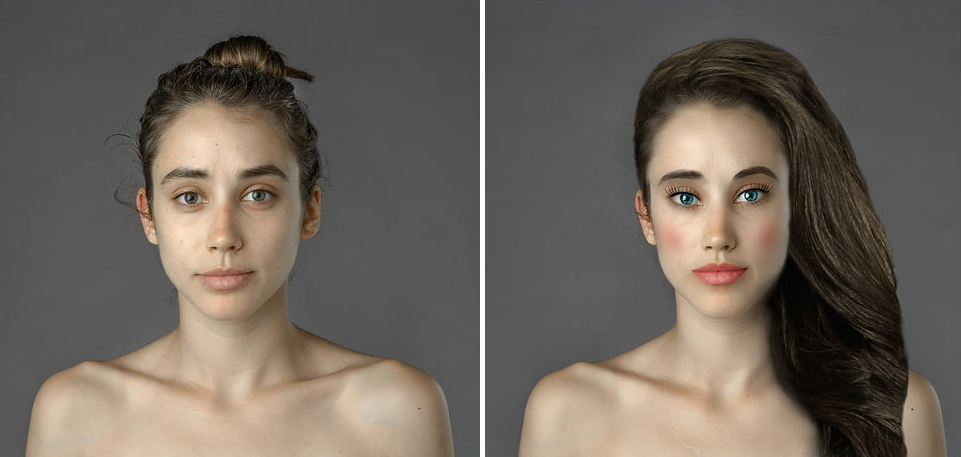 Woman photoshopped to fit 25 different countries' definition of beauty
