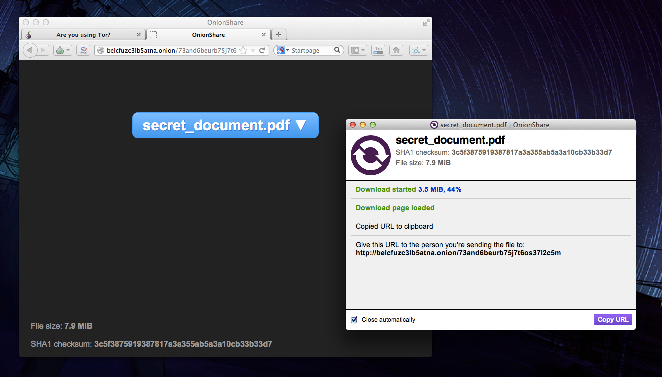 Meet Onionshare, the File Sharing App the Next Snowden Will Use