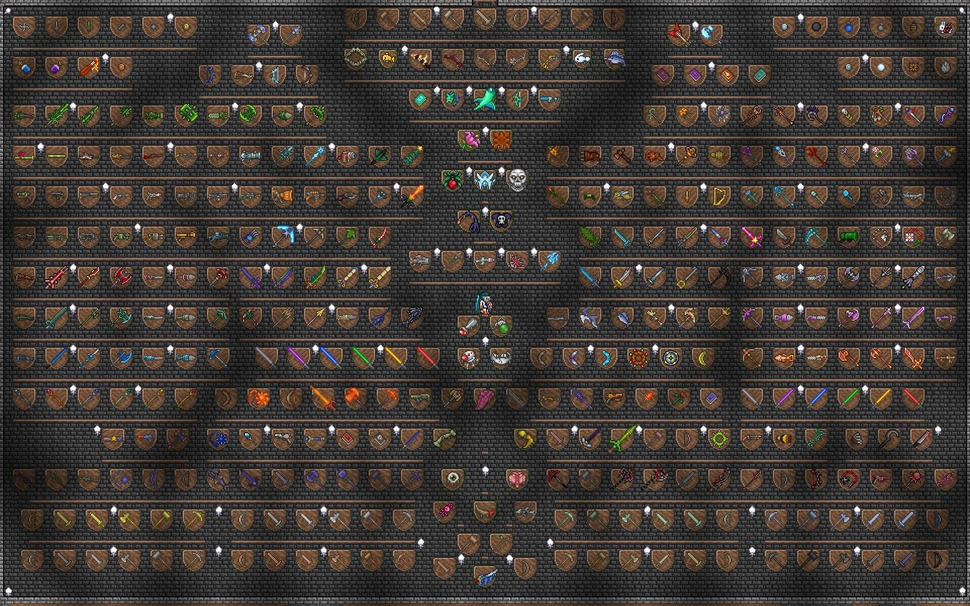 One Hell Of A Display Room In Terraria