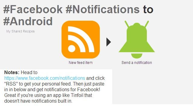 Get Facebook Notifications Without the Mobile App Using IFTTT