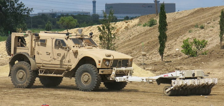 This Army Mine Sweeper Will Drive Itself in Search of IEDs