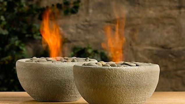 DIY Flaming Rock Bowls Light Up Any Backyard