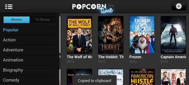 Popcorn Time's