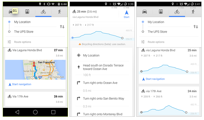 Google Maps for Mobile Now Lets Cyclists Avoid the Hills