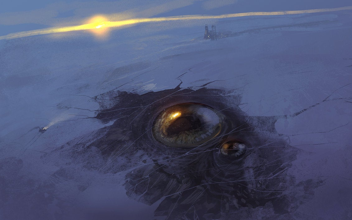 Those Siberian holes might as well be the eye sockets of giant monsters
