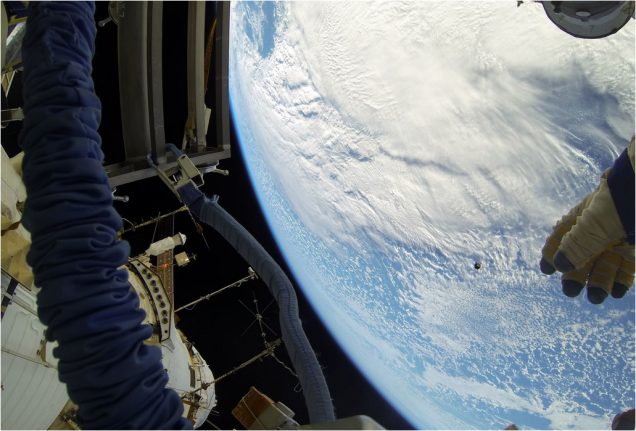 Beautiful Images of Astronauts Releasing Nanosatellites Into Space