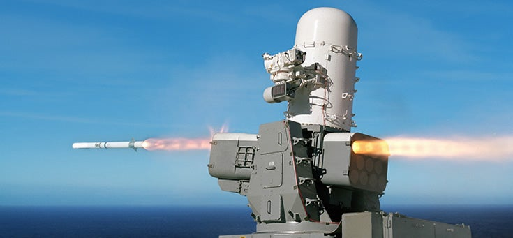 SeaRAM Outfits the Navy's Favourite Gatling Gun with Homing Missiles