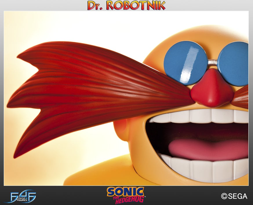 Two Foot Tall Dr. Robotnik Statue Terrorizes Blue Hedgehog And Friends