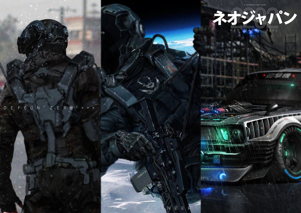 Photos of regular soldiers transformed into cool futuristic warriors