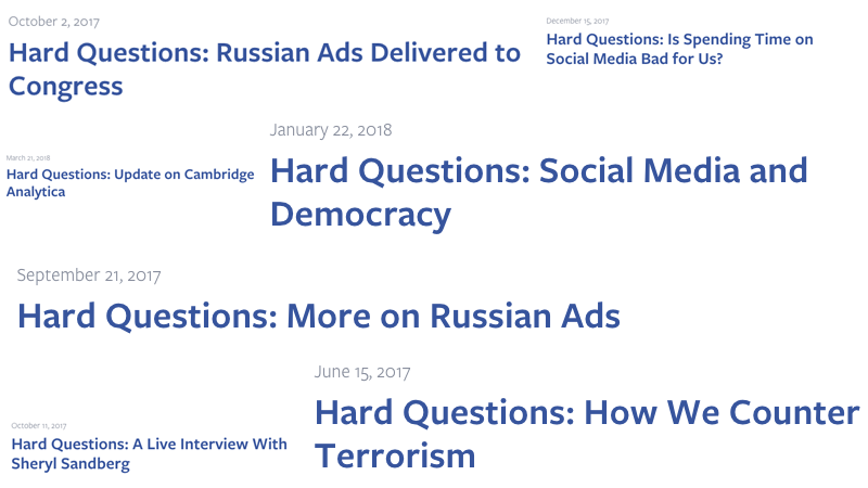 Does Facebook Know What A 'Hard Question' Is?