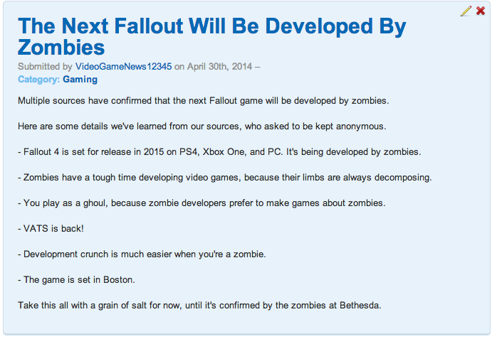 How A Dumb Gaming Rumour Spreads