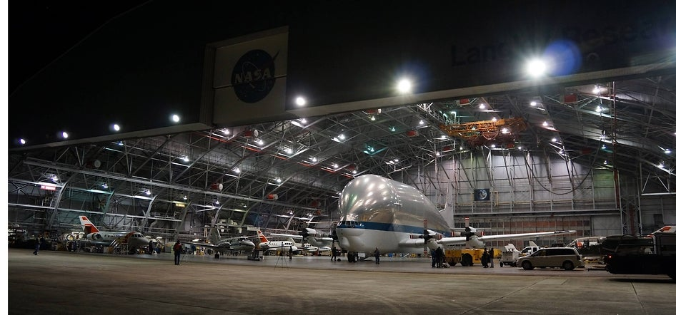 This Is Where NASA's Super Guppy Gets Some Rest