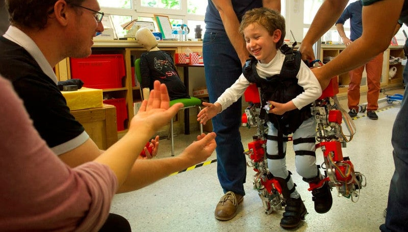 The World's First Child-Sized Exoskeleton Will Melt Your Heart
