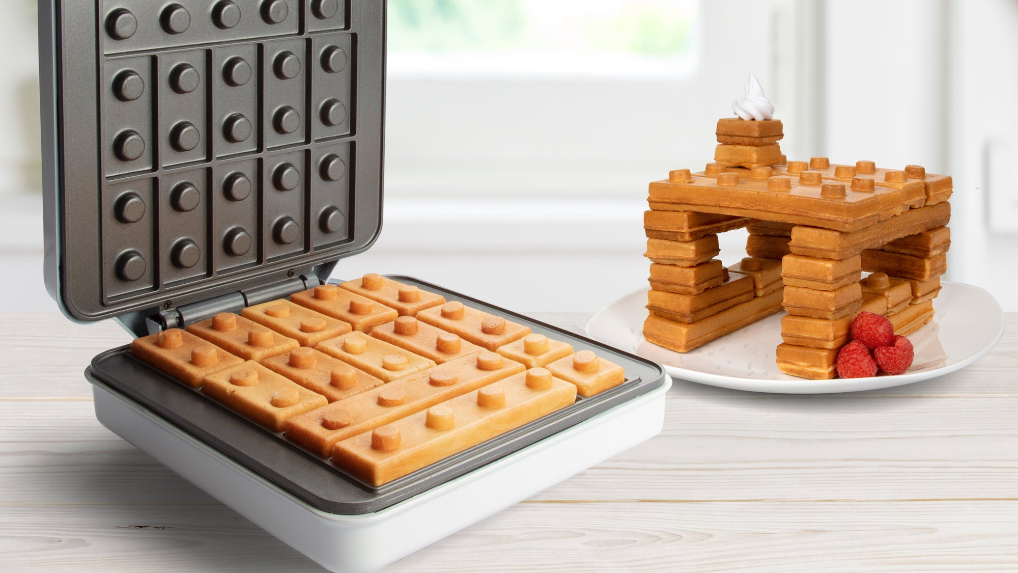 This Building Block Waffle Maker Is Like Eating Lego For Breakfast