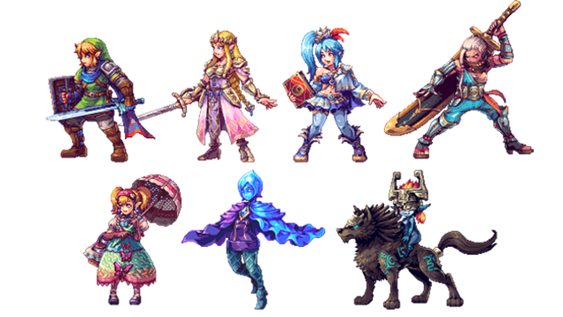 Hyrule Warriors Characters Are Awesome In 2D