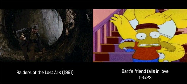 Watch the Movie References Used by The Simpsons Side-By-Side with the Actual Scene (NSFW)