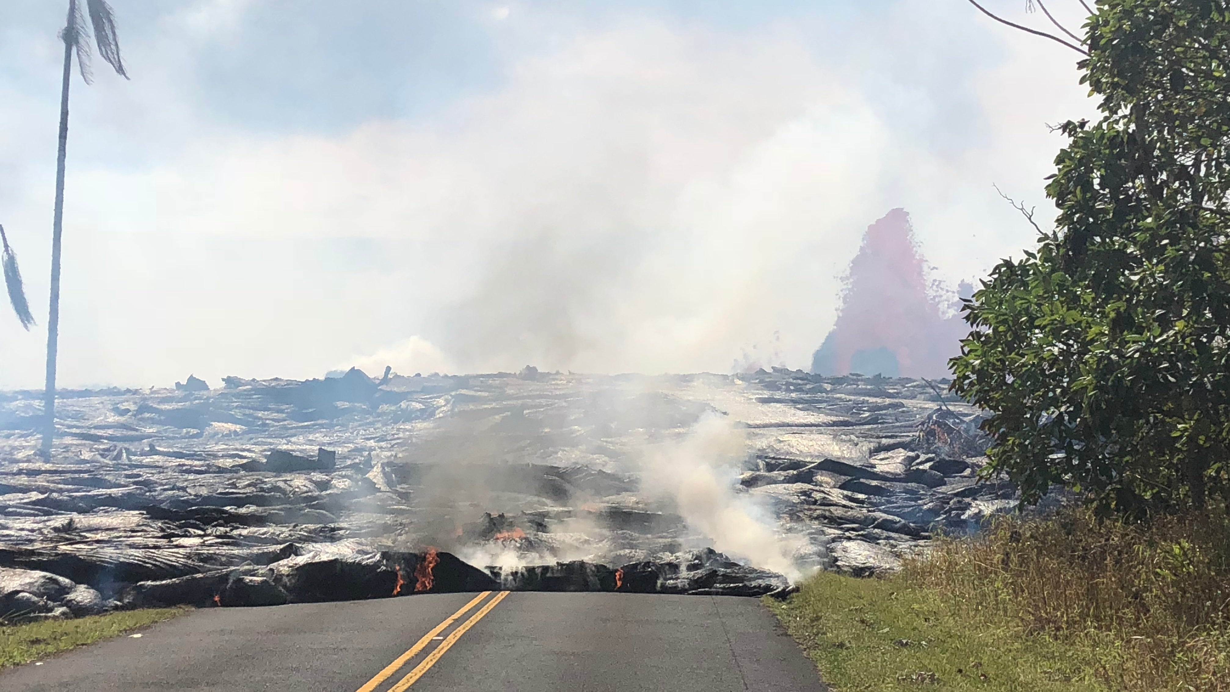 Lava From Kilauea Volcano Reaches Well At Geothermal Power Plant