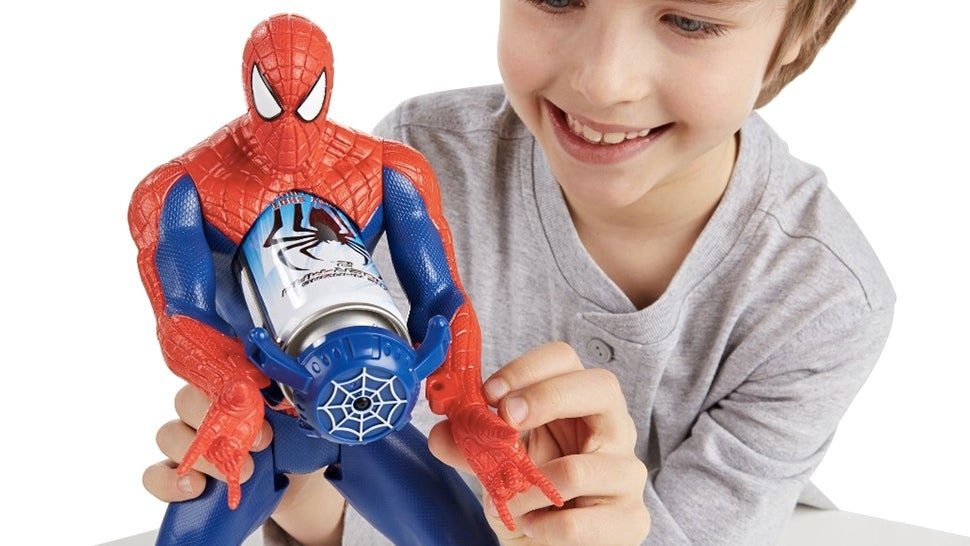 A Spider-Man Figure That Actually Shoots Webs — From His Chest?