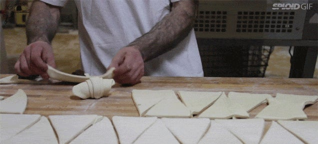 Video: The skilled beauty of making croissants