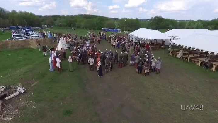 When the Past and Future Collide: Russian Reenactor Takes Out Drone With Spear