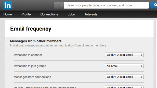 Unsubscribe from All LinkedIn Emails with a Click