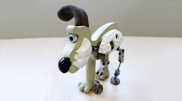 The guts of Gromit, the dog from Wallace and Gromit