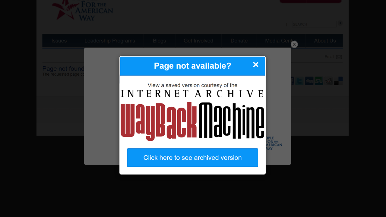 Wayback Machine For Chrome Finds Archived Copies Of Broken Links
