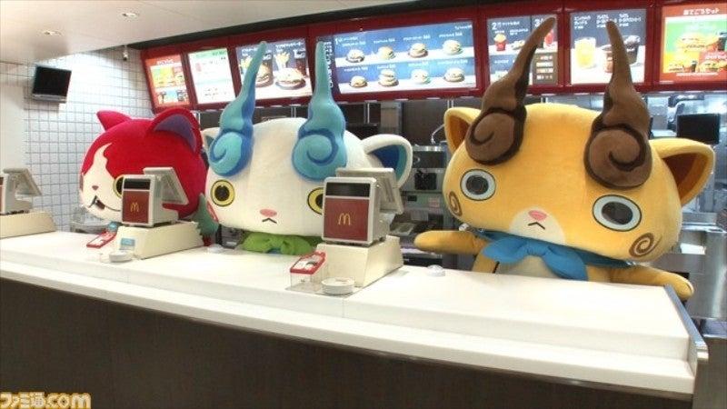 Yokai Watch Characters Working At McDonald's