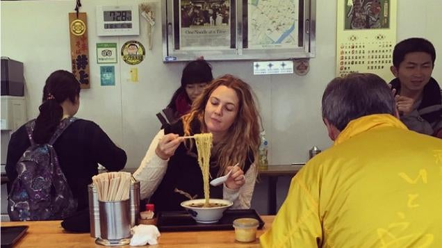 Drew Barrymore Knows How To Eat in Tokyo