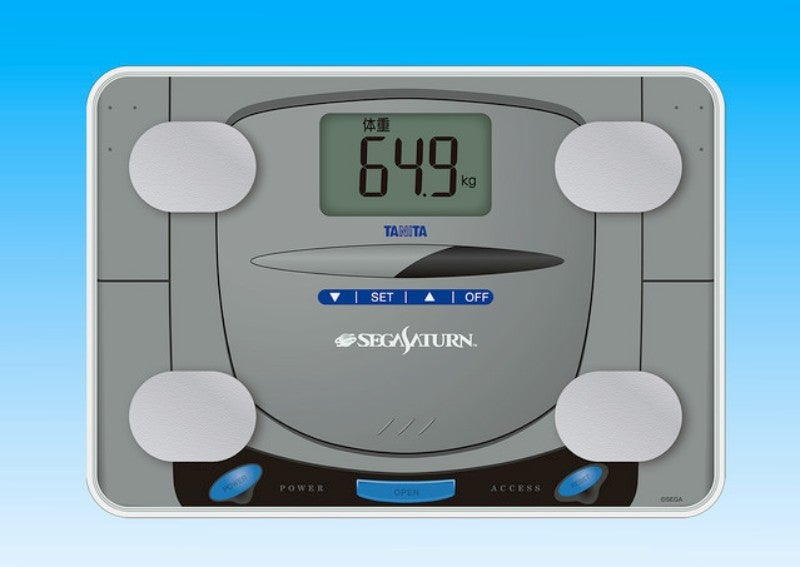 The Sega Saturn Reborn As A Scale And Body Monitor
