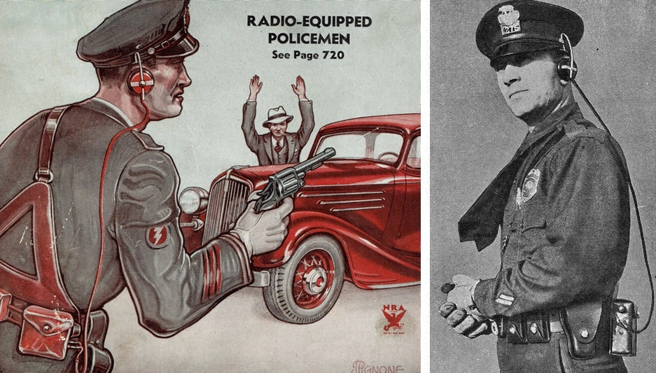 This Was The Radio-Equipped Policeman Of The Future In 1934