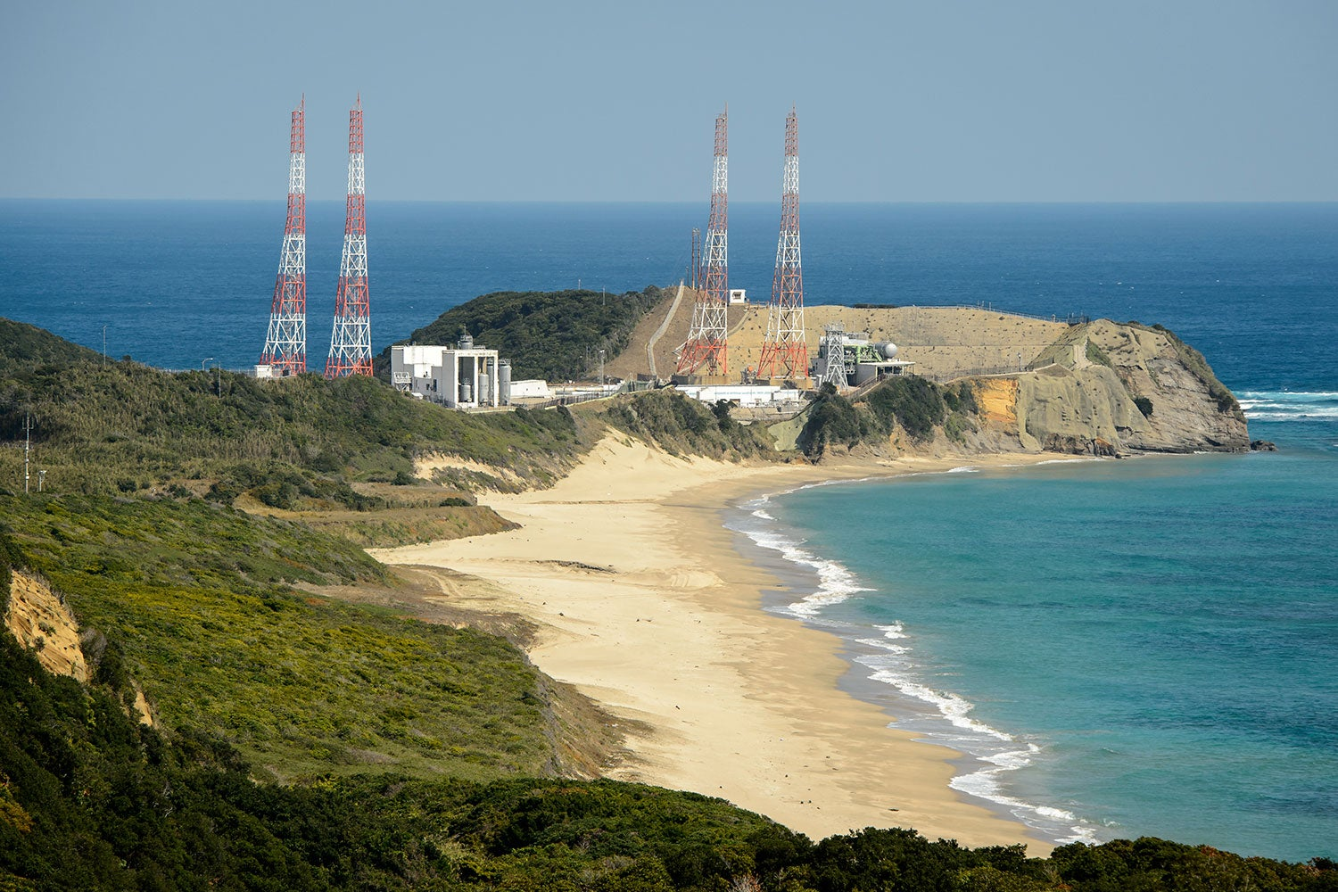 Japan's rocket launch site looks like a Bond villain's secret lair