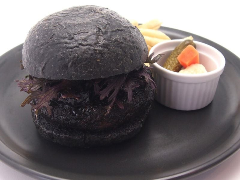 The Official Studio Ghibli Hamburger Is Pitch Black