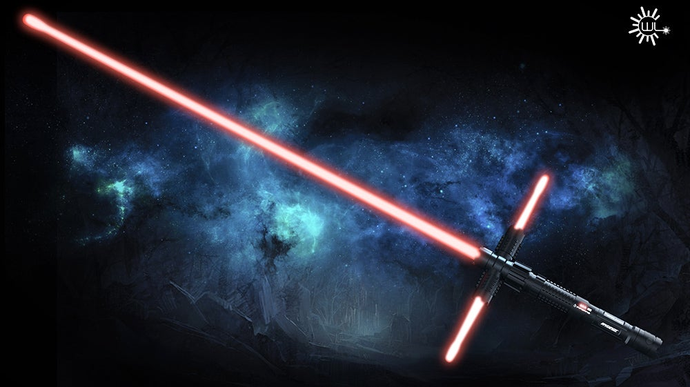 A Real-Life Laser Tri-Blade Lightsaber Is the Best Worst Idea