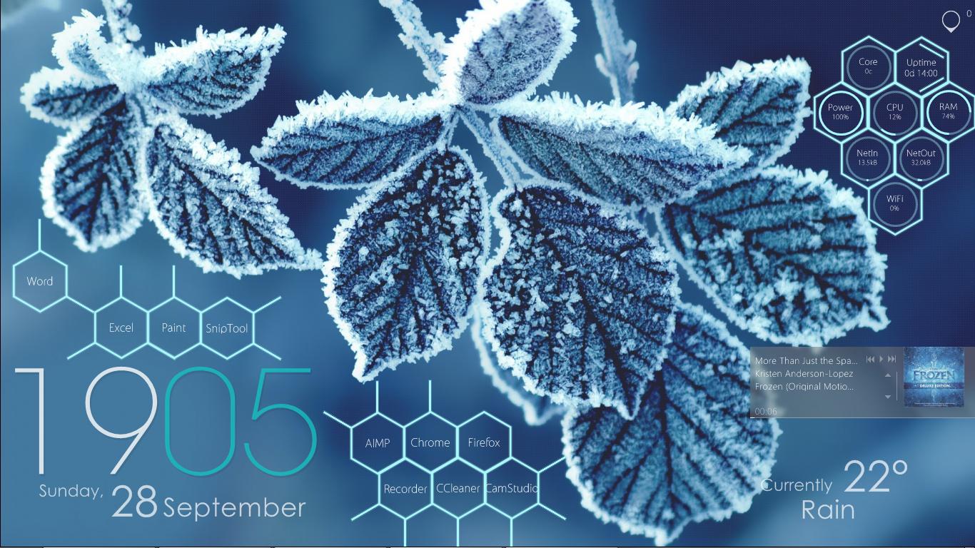 The Blue Winter Desktop