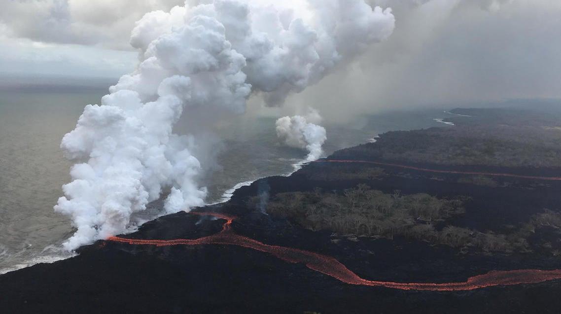 New Evacuation Plan In Place As Third Kilauea Lava Flow Reaches Ocean