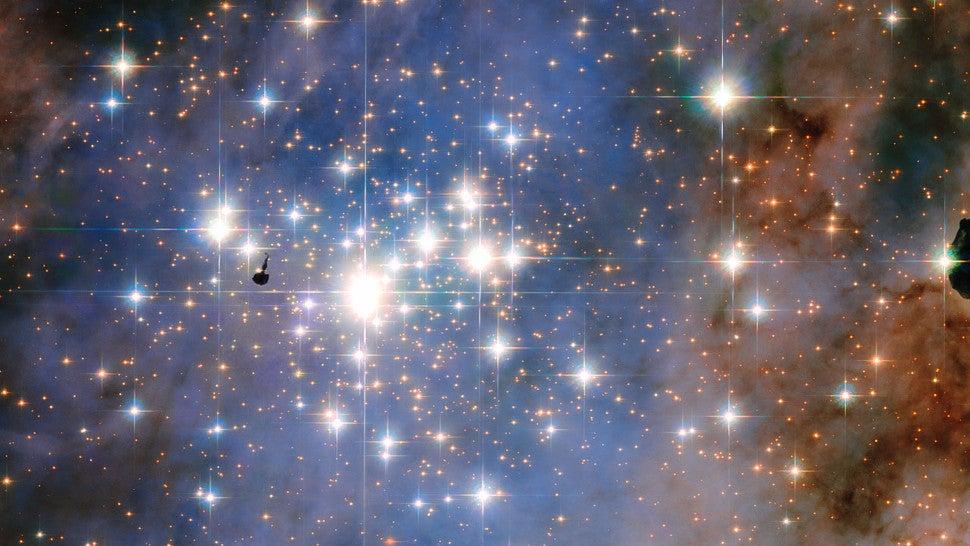 Doomed Stars Glisten Like Diamonds in Latest Hubble Photo