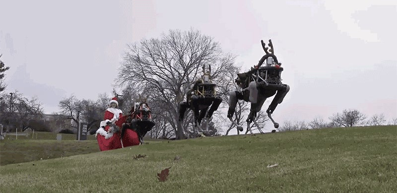 Boston Dynamics' Robo-Dogs Pulling a Sleigh Is a Terrifying Glimpse of the Future