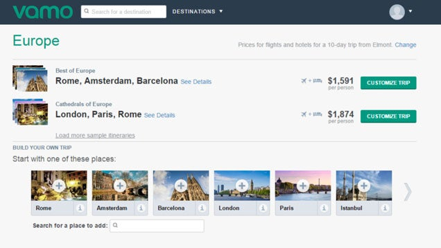 Vamo Makes Planning Multi-City Trips Abroad a Cinch