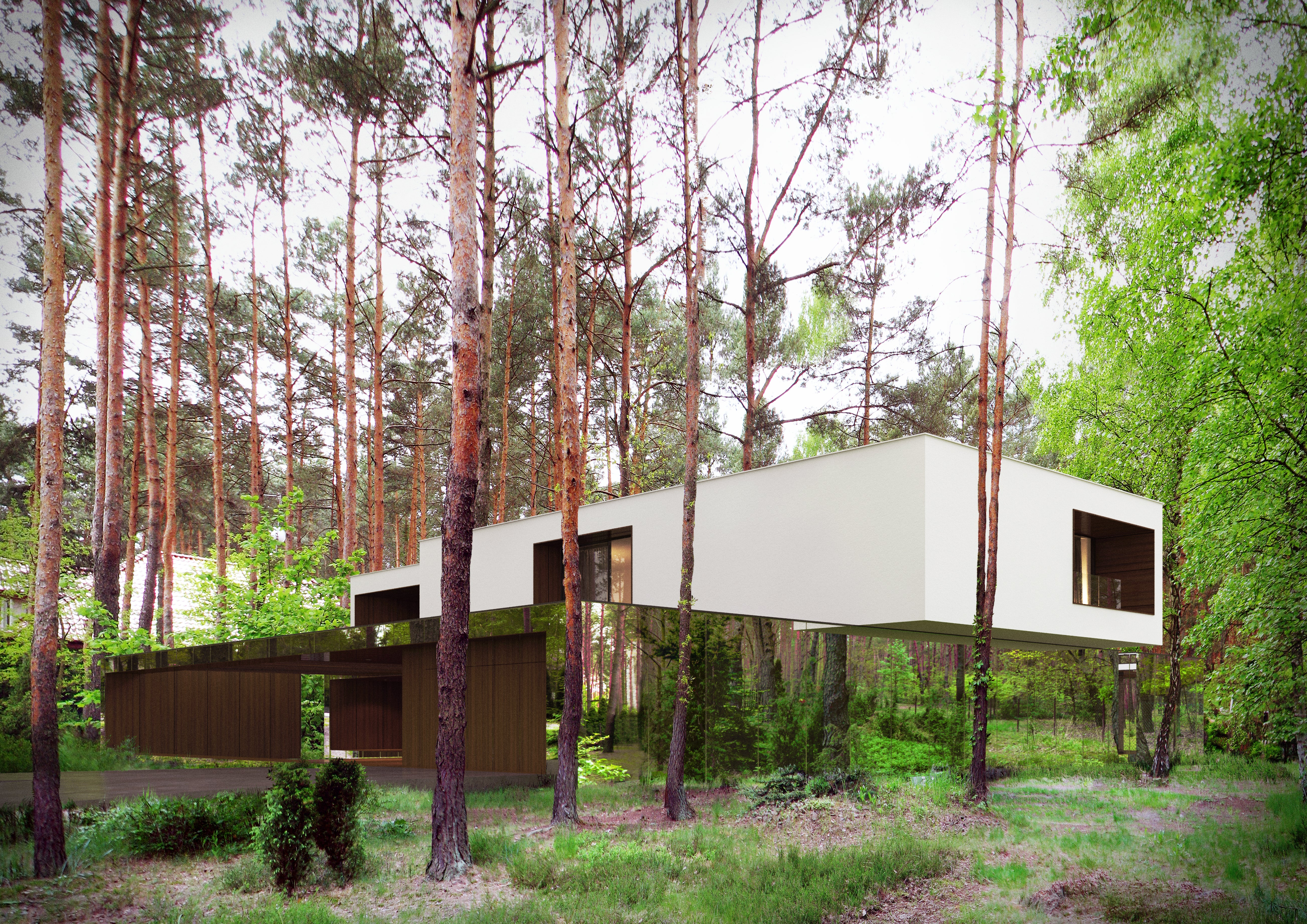 This Mirror House Vanishes Into the Forest