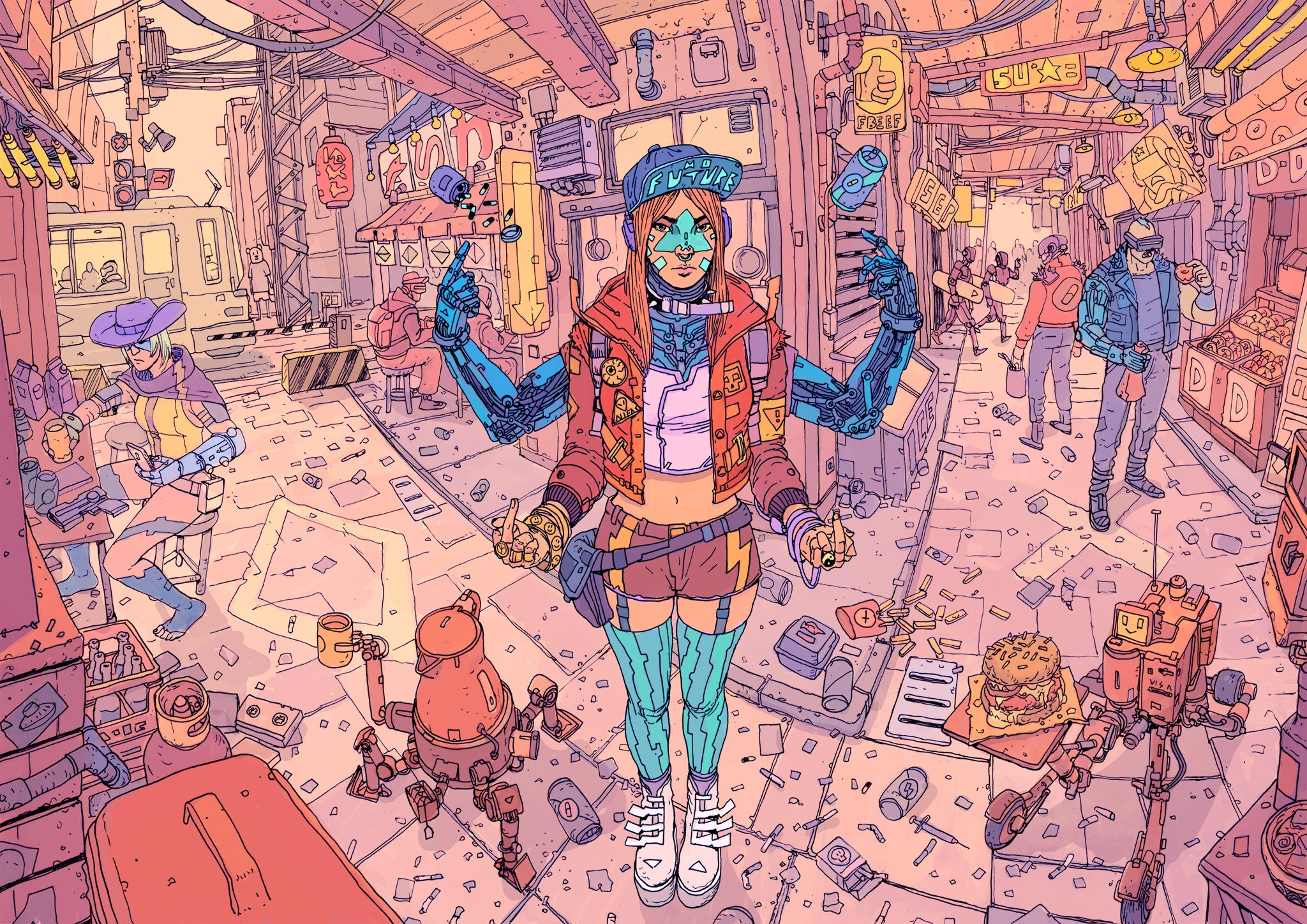 Awesome Cyberpunk Art? Don't Mind If We Do.