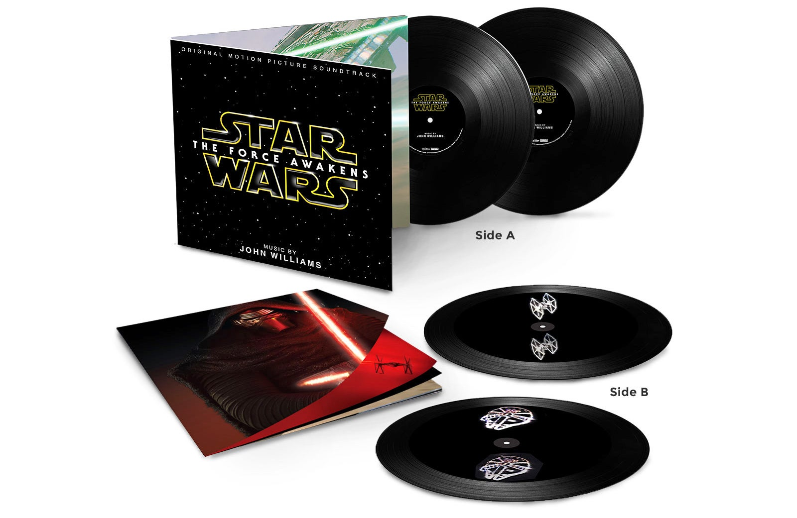 The Force Awakens' Soundtrack on Vinyl Has 3D Spinning Holograms Etched Onto the Records