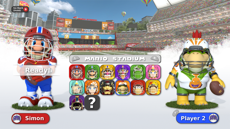 Nintendo Characters As Football Players