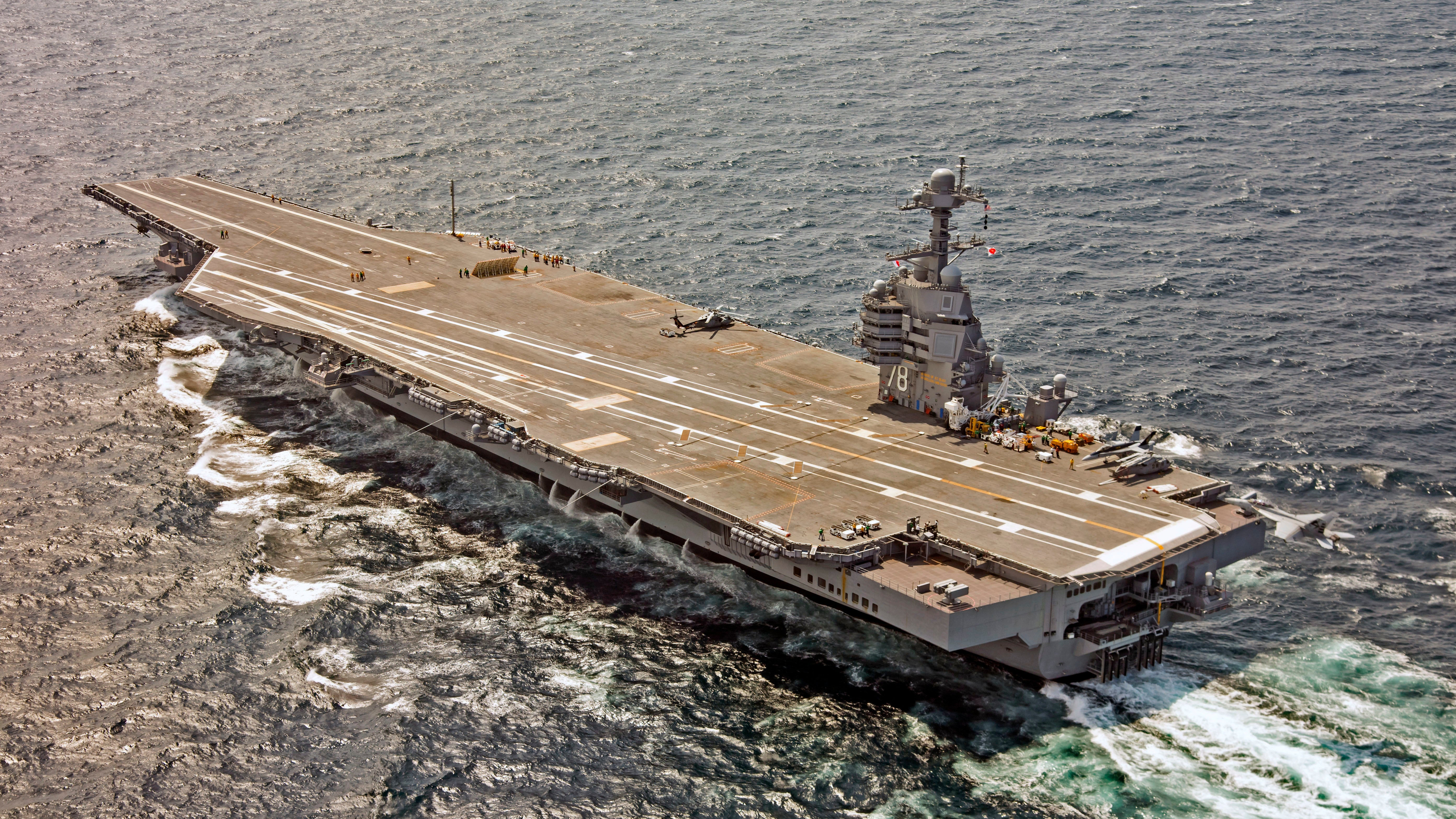 The U.S. Navy's Big Beautiful New Carrier Has Hilariously Messed Up Toilets
