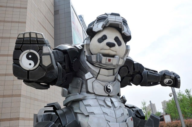 Iron Man Plus Panda Is Iron Panda