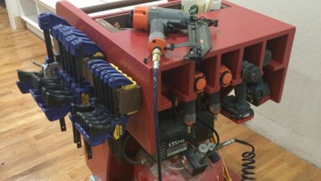 Build A Rolling Air Compressor And Tool Cart To Stay Ultra